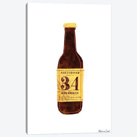 Northern Irish Craft Beer - Northbound 34 Oak Smoked Canvas Print #MAS42} by Martina Scott Canvas Artwork