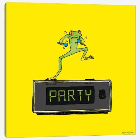 Party Frog Canvas Print #MAS51} by Martina Scott Canvas Print