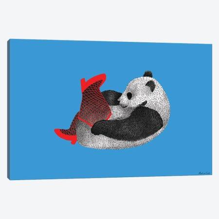 Party Panda Canvas Print #MAS52} by Martina Scott Canvas Print
