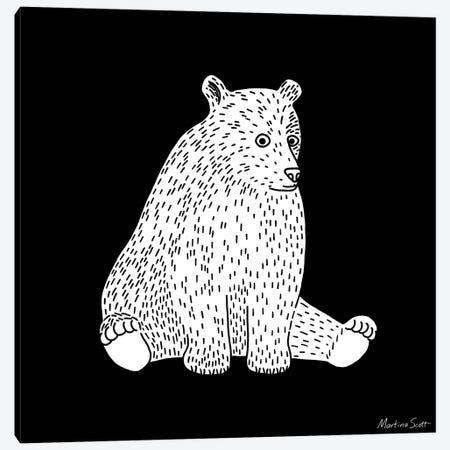 Sitting Bear Canvas Print #MAS66} by Martina Scott Canvas Print