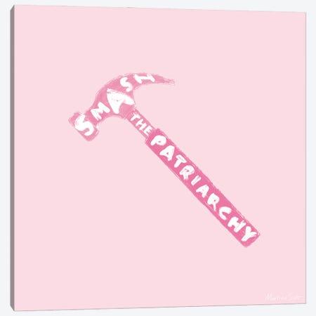 Smash The Patriarchy (Pink Edition) Canvas Print #MAS70} by Martina Scott Canvas Art Print