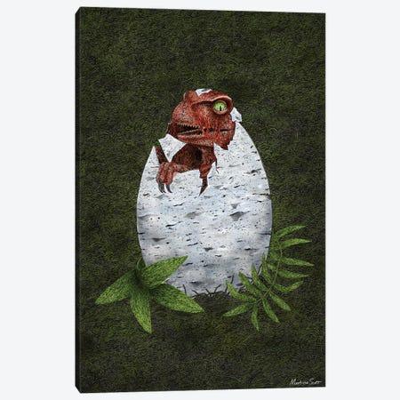 Baby Raptor Canvas Print #MAS7} by Martina Scott Canvas Wall Art