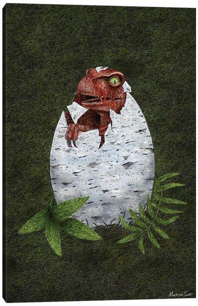 Baby Raptor Canvas Art Print
