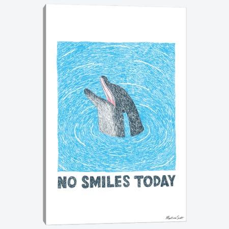 No Smiles Today Canvas Print #MAS86} by Martina Scott Canvas Print