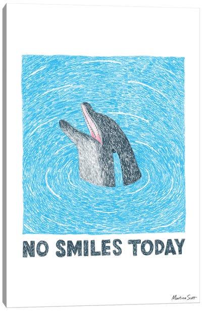 No Smiles Today Canvas Art Print