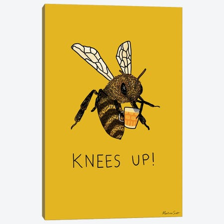 (Bee's) Knees Up Canvas Print #MAS88} by Martina Scott Canvas Artwork