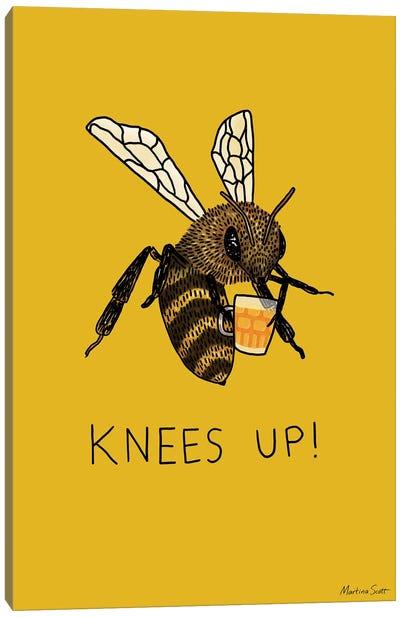 (Bee's) Knees Up Canvas Art Print