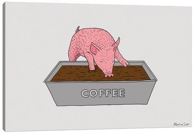 Coffee Pig Canvas Art Print