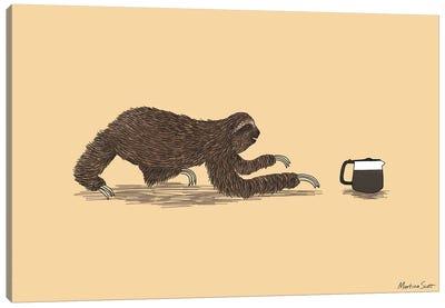 Crawl To The Coffee Canvas Art Print