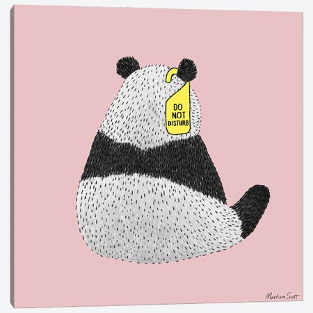 Do Not Disturb Panda Canvas Print #MAS92} by Martina Scott Canvas Print