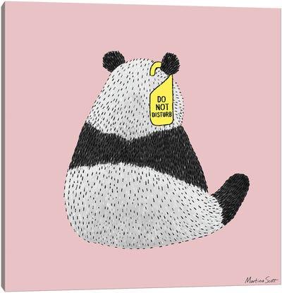 Do Not Disturb Panda Canvas Art Print