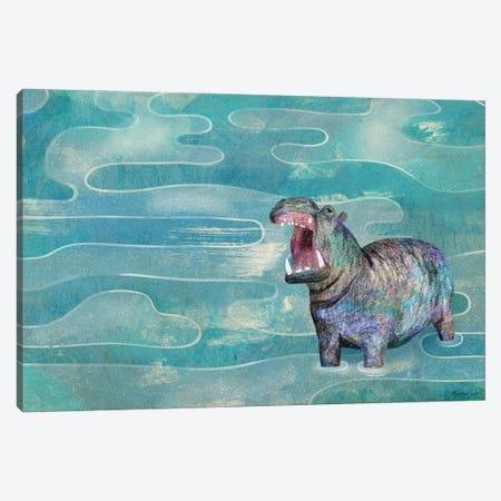 Hippo Canvas Print #MAS95} by Martina Scott Canvas Art