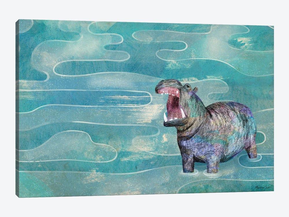 Hippo by Martina Scott 1-piece Canvas Wall Art