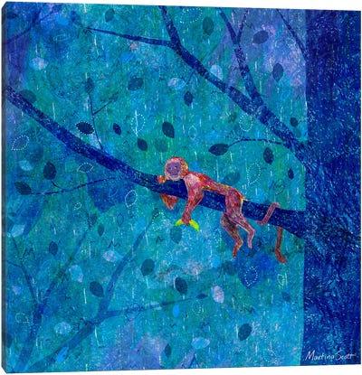 Melancholic Monkey Canvas Art Print