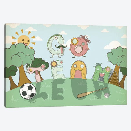 Go Team Canvas Print #MAT13} by 5by5collective Canvas Art