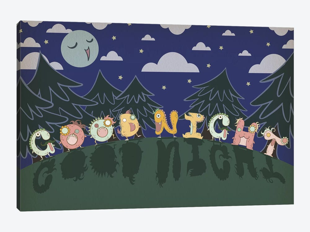 Good Night by 5by5collective 1-piece Art Print