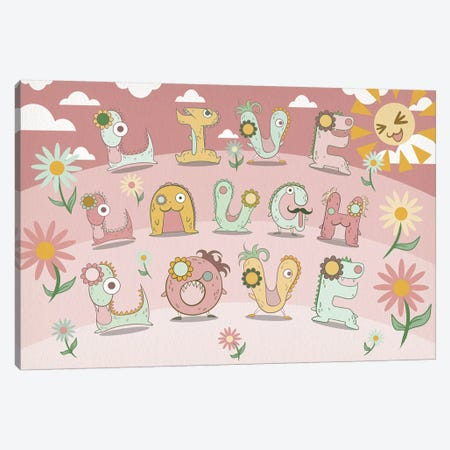 Live Laugh Love Canvas Print #MAT22} by 5by5collective Canvas Art Print
