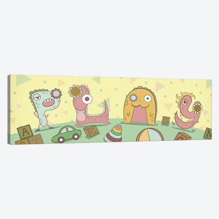 Play Canvas Print #MAT27} by 5by5collective Canvas Artwork