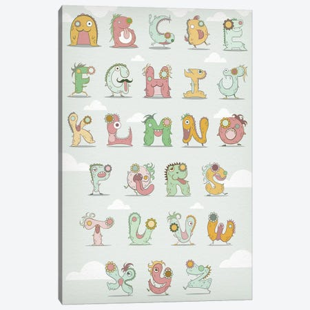 Alphabet Chart1 Canvas Print #MAT2} by 5by5collective Canvas Wall Art