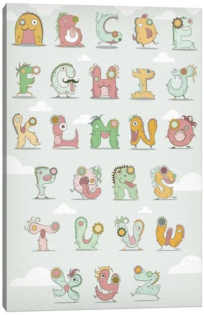 Alphabet Chart1 Canvas Print #MAT2
