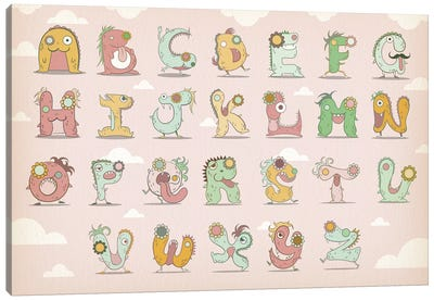 Alphabet Chart2 Canvas Art Print