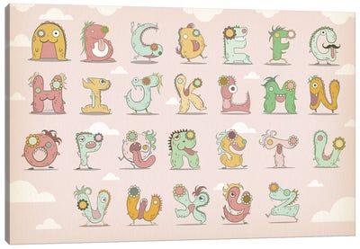Alphabet Chart2 Canvas Print #MAT3