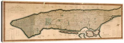 New York And The Island Of Manhattan Canvas Art Print