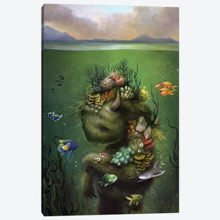 Submerged Canvas Print #MAY110} by Dan May Canvas Wall Art