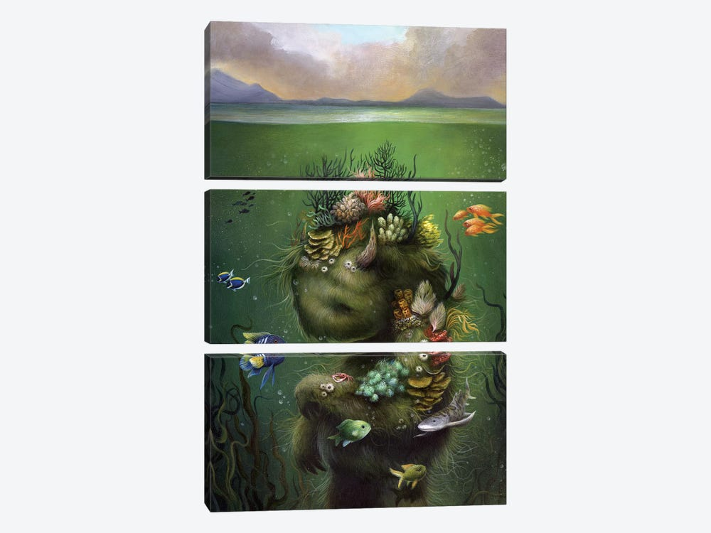 Submerged by Dan May 3-piece Art Print