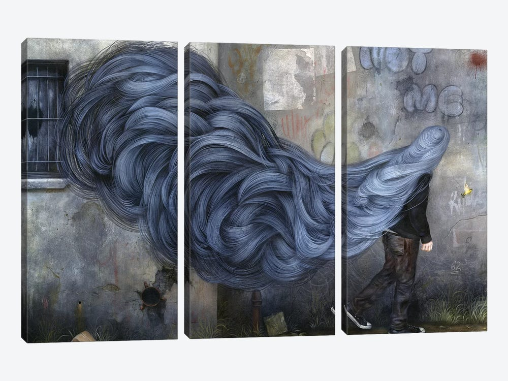 The Other Side Of The Blue by Dan May 3-piece Canvas Art Print