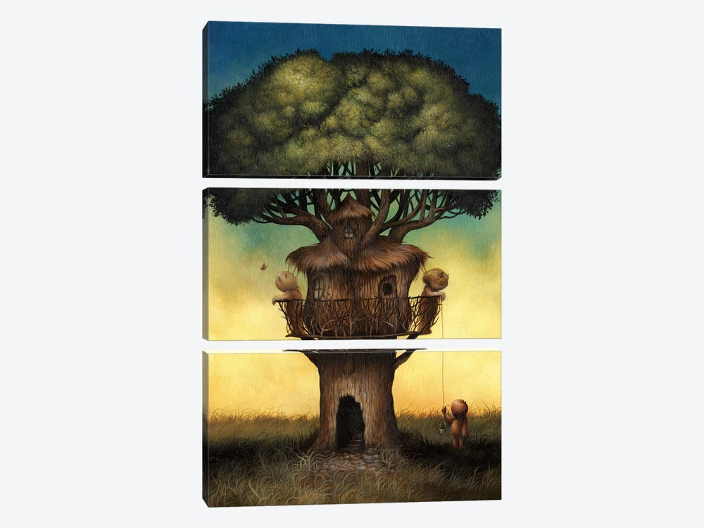 Tree House  by Dan May 3-piece Canvas Art Print
