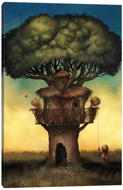 Tree House  Canvas Art Print