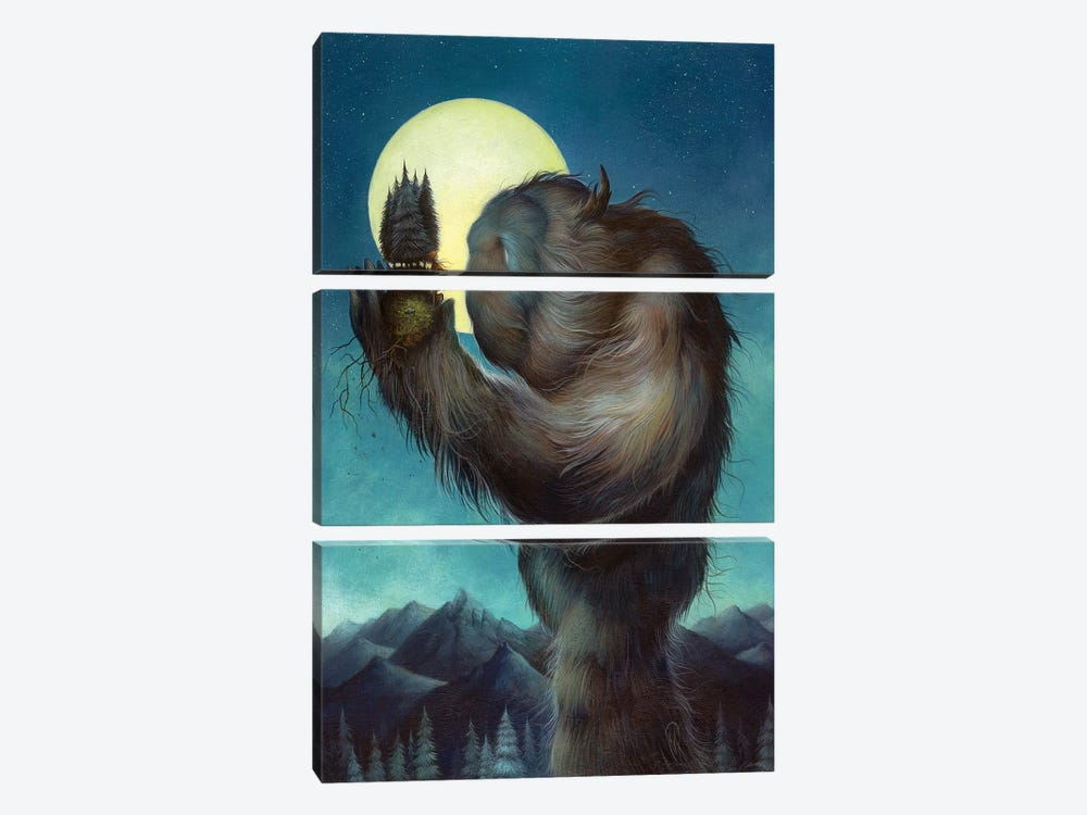 Under The Harvest Moon by Dan May 3-piece Canvas Art Print