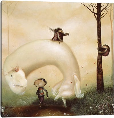 When Fear Gave Way To Frolic  Canvas Art Print