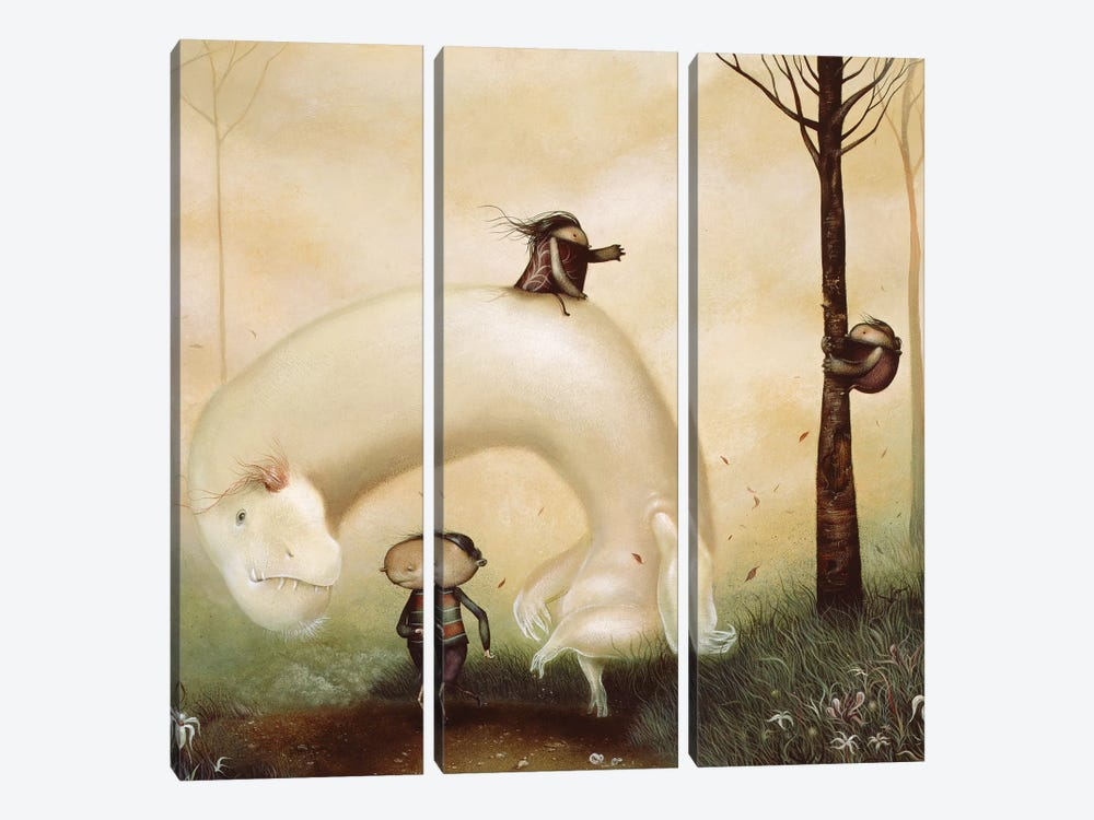 When Fear Gave Way To Frolic  by Dan May 3-piece Art Print