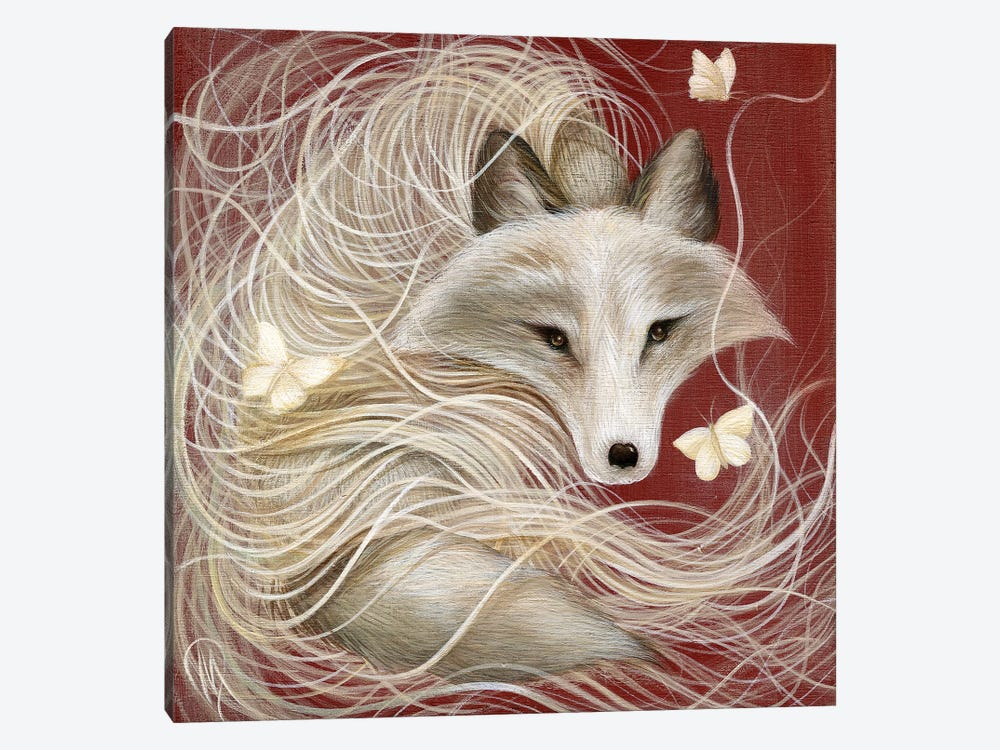 White Fox by Dan May 1-piece Canvas Art