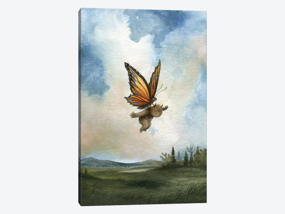 Delicate Landing   by Dan May 1-piece Canvas Wall Art
