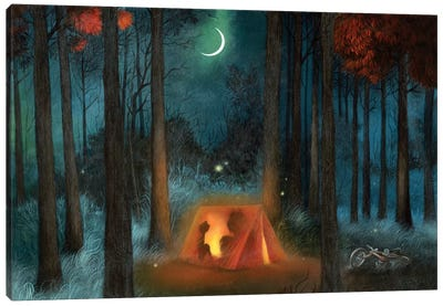 Campout Canvas Art Print