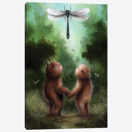 Dragonfly Dance Canvas Print #MAY33} by Dan May Canvas Print