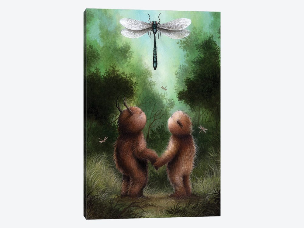 Dragonfly Dance by Dan May 1-piece Canvas Art