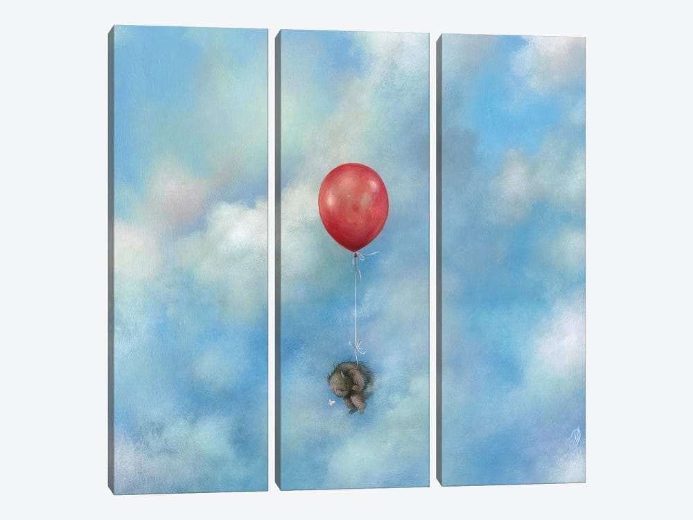 Float Away by Dan May 3-piece Canvas Artwork