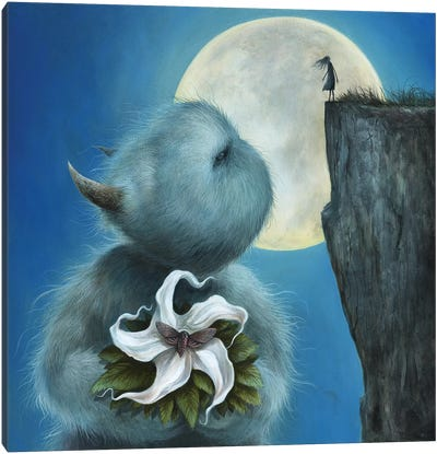 Meet Me Under The Moon Canvas Art Print