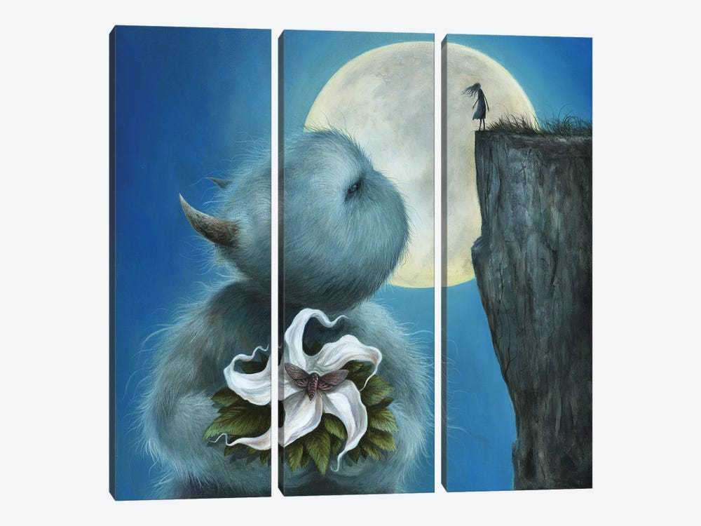 Meet Me Under The Moon by Dan May 3-piece Canvas Art Print
