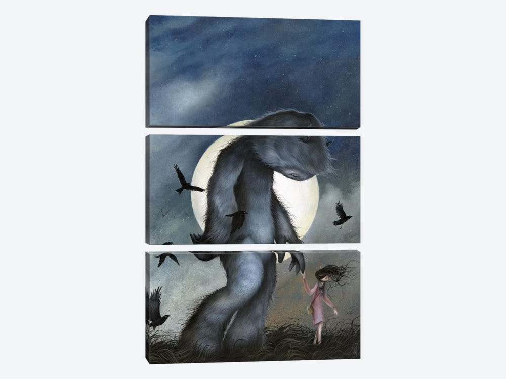 Moon Walk by Dan May 3-piece Canvas Artwork