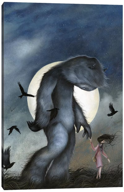 Moon Walk Canvas Art Print