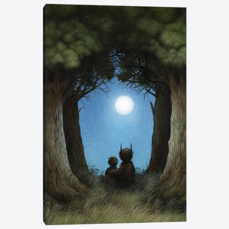 Peering Into The Night Canvas Print #MAY84} by Dan May Canvas Art Print