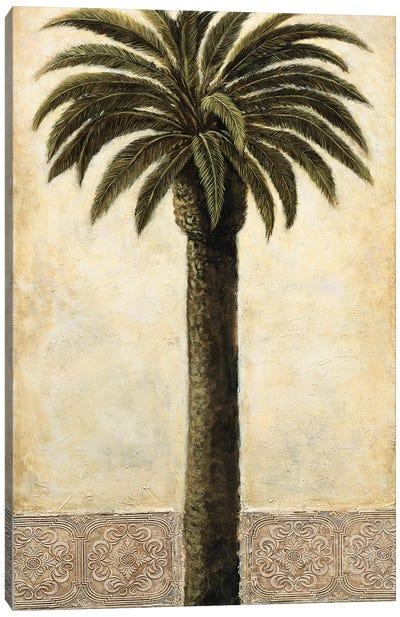 Silhouette Palms I Canvas Art Print