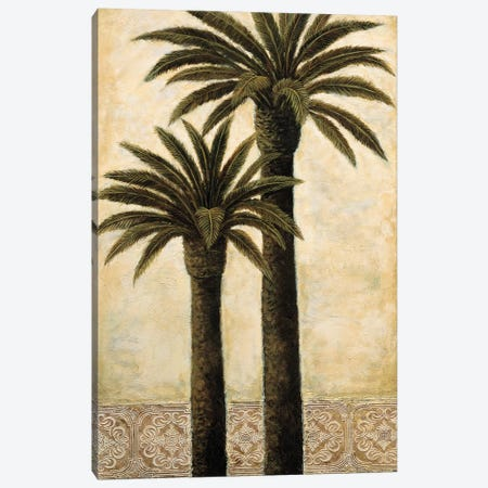 Silhouette Palms II Canvas Print #MAZ12} by André Mazo Canvas Wall Art