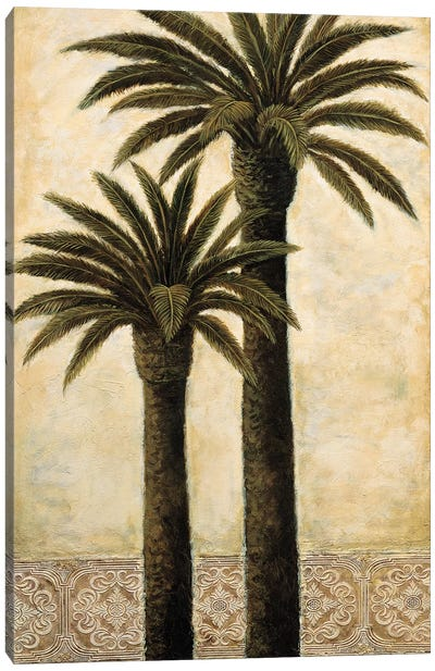 Silhouette Palms II Canvas Art Print