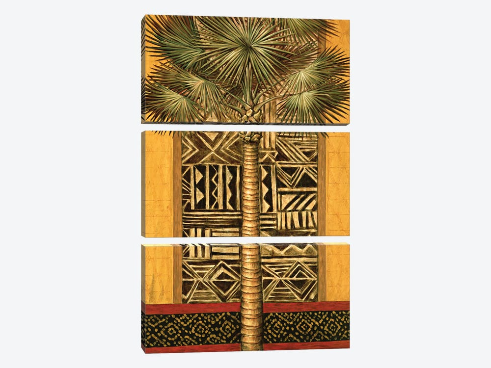 African Evening I by André Mazo 3-piece Canvas Art